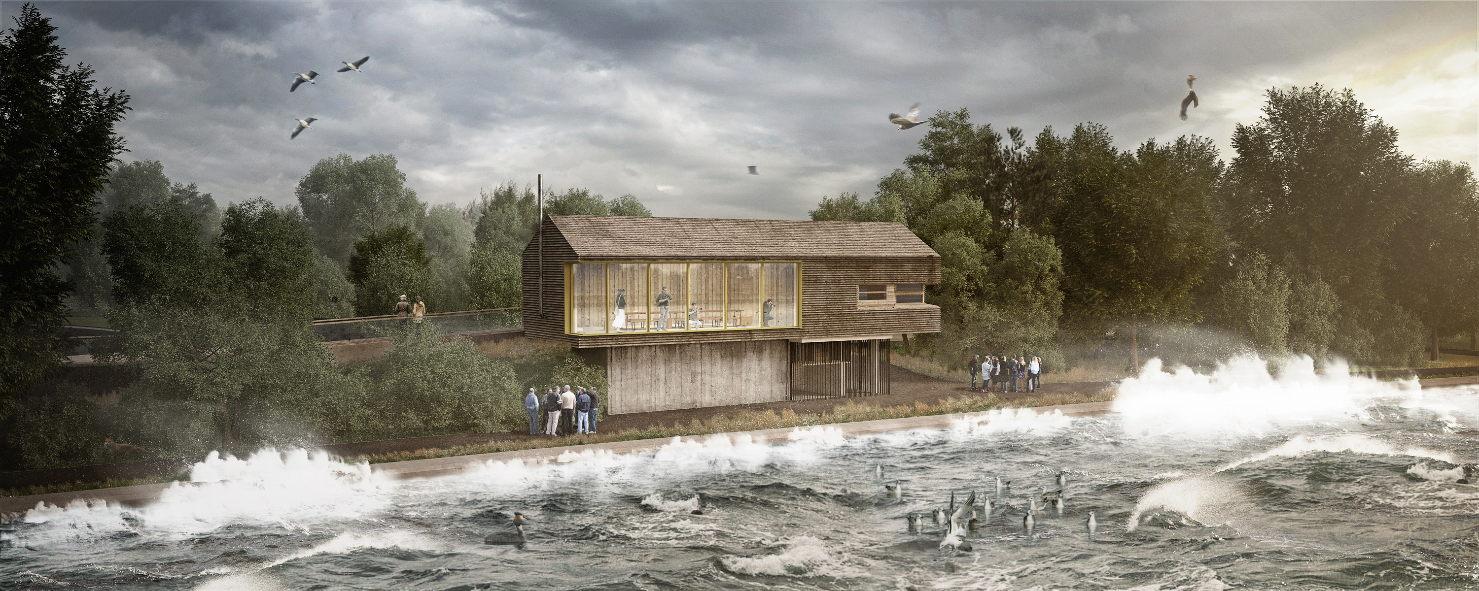 An artisit impression of the new wildlife visitor centre due to open at ...